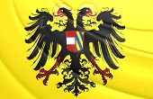 Holy Roman Empire Flag (1493-1556). Close Up. poster