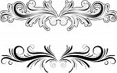 hand drawn decorative element - one with outline and one without poster