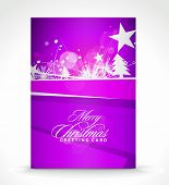 Christmas greeting card with presentation design. vector illustration. poster