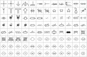 96 Electronic and Electric Symbol Vector Vol.1 poster