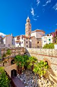 Split historic architecture of Diocletian's palace UNESCO world heritage site vertical view Croatia poster