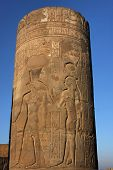 An engraved column in Kom Ombo temple, Egypt poster