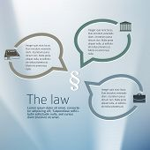 Design elements background for Legal & law firm. Silver glow blur with sign legal law and bubble speak. Vector illustration eps 10. poster