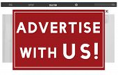 Advertise With Us Commercial Branding Persuade Concept poster