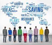 Saving Finance Global Finance World Economy Concept poster