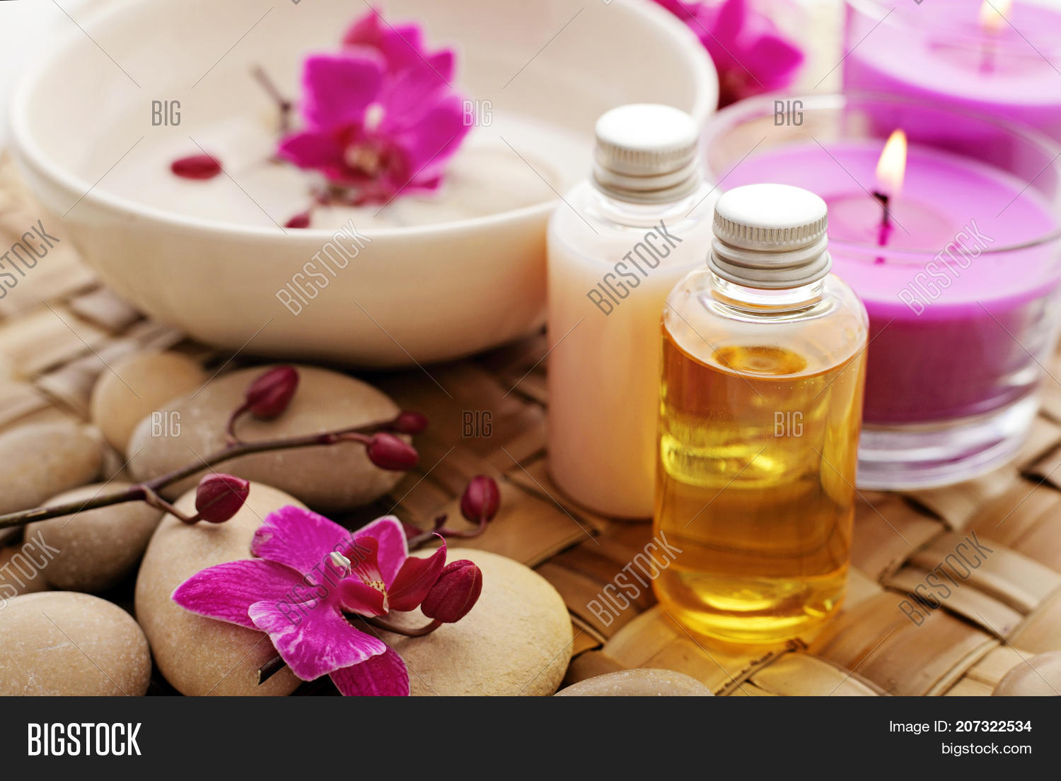 Massage Oil Bottles Image Photo Free Trial Bigstock