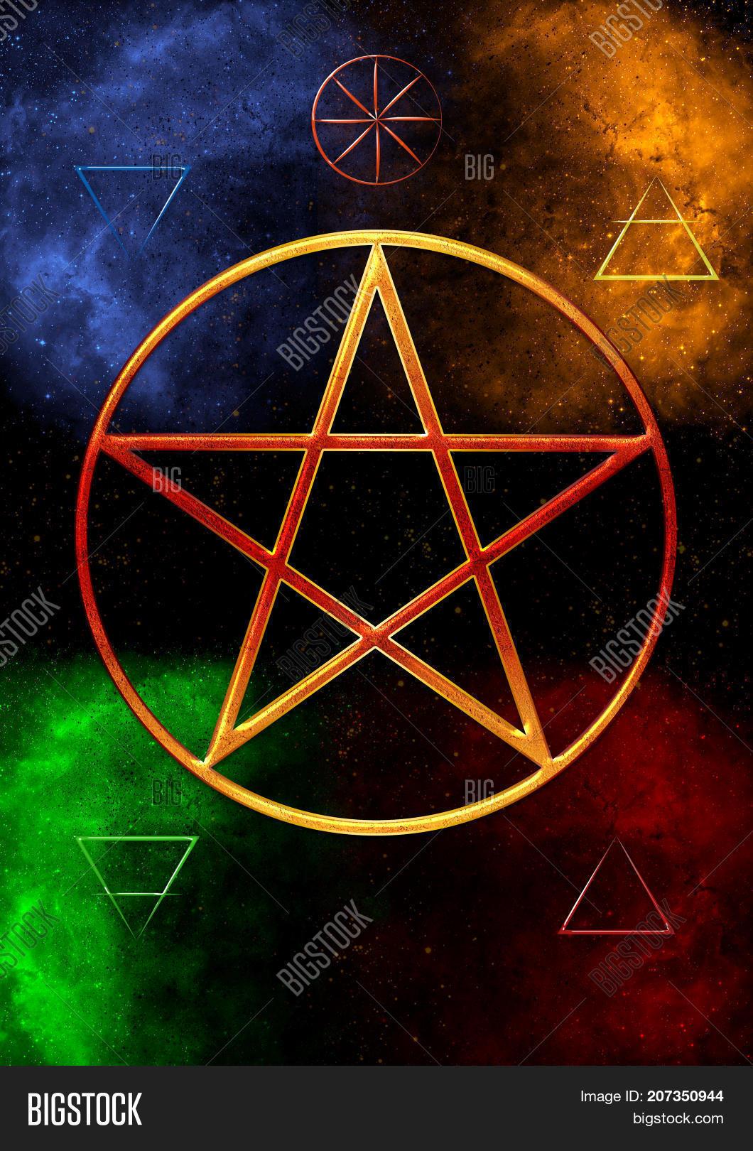 Wicca Symbol Five Image Photo Free Trial Bigstock