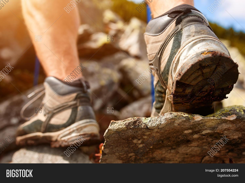 Hiking Man Trekking Image Photo Free Trial Bigstock