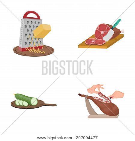 treat, appliance, tool and other  icon in cartoon style.cook, housewife, hands icons in set collection.