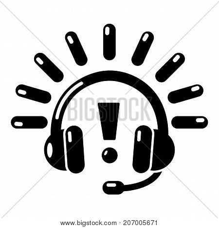 Headphones icon. Simple illustration of headphones vector icon for web