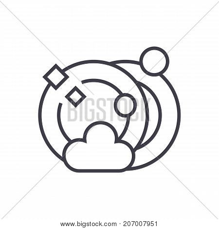 dish washing cleaning vector line icon, sign, illustration on white background, editable strokes