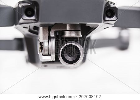 Close up of camera lenses as a detail of drone.