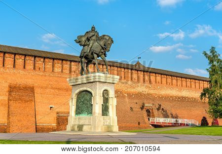 Equestrian monument to Dmitry Donskoy in Kolomna, Moscow Region, the Golden Ring of Russia