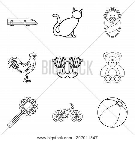 Supervision icons set. Outline set of 9 supervision vector icons for web isolated on white background