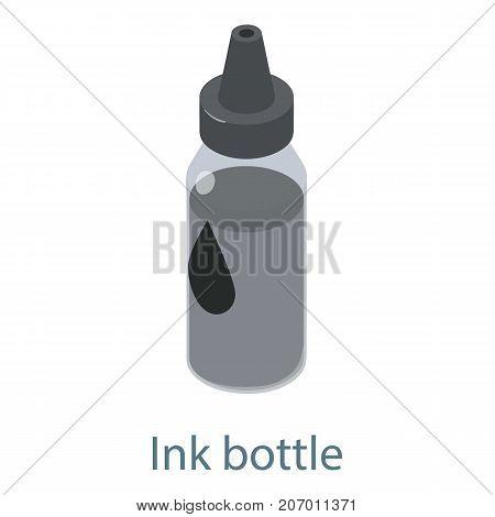 Ink bottle icon. Isometric illustration of ink bottle icon for web