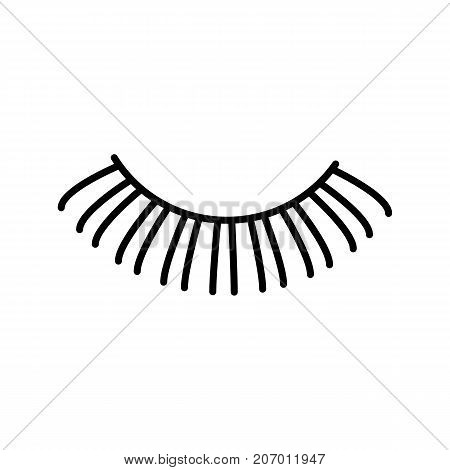 eyelashes vector line icon, sign, illustration on white background, editable strokes