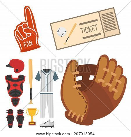 Cartoon baseball player icons. vector design american game