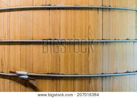 Close Up of Bourbon Mash Tank Side Background Image