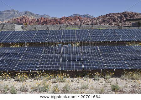 Large solar array on US federal parkland.