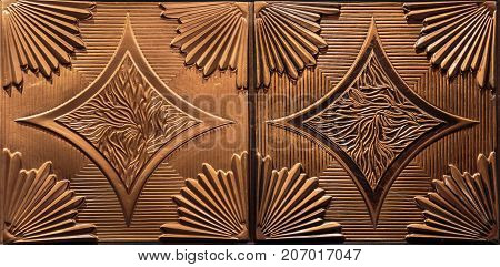 gorgeous amazing detailed closeup view of dark bronze color interior ceiling luxury background