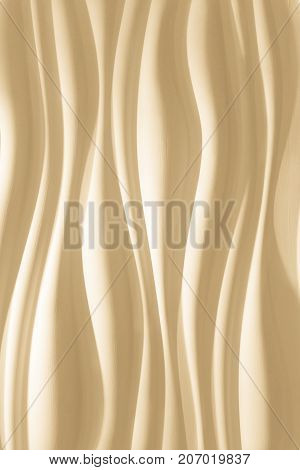 nice warm amazing closeup view of Tuscan sun color wavy interior decorative wall background