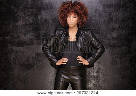 Fashion Portrait Of African American Girl.