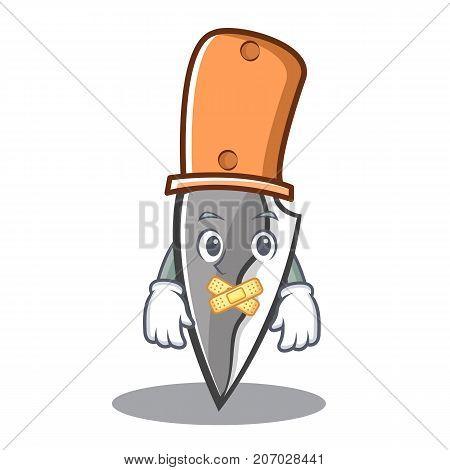 Silent knife character cartoon style vector illustration