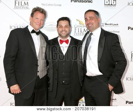 LOS ANGELES - SEP 30:  Charlie Jones, Ron Truppa, Carl Cafaro at the Catalina Film Festival - September 30 2017 at the Casino on Catalina Island on September 30, 2017 in Avalon, CA