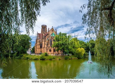 St John's church on the water in Stuttgart, Germany.