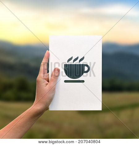Cup Of Coffee Perforated Paper