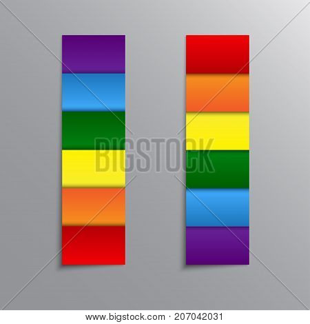 LGBT Pride Flag in Vector Format. Rainbow Flag. Pride Horizontal Object Stickers, Price Tag, Label, Card. Vector Illustration for Your Design.