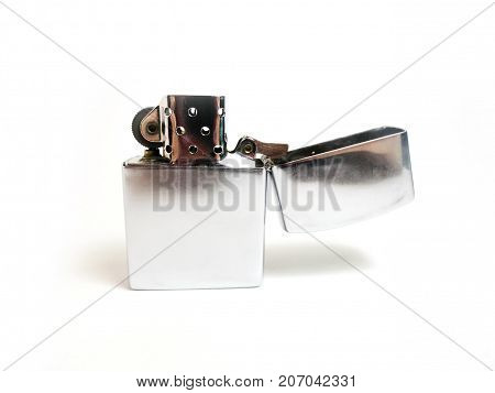 Lighter. Fire Detector. A gift for smokers. Souvenir lighter. On a white background.