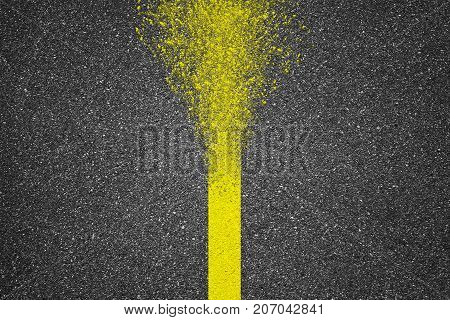 Illustration of asphalt texture background with disappear line
