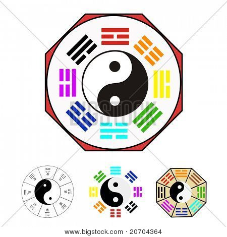 Design elements -  Vector for Chinese Bagua (Eight Trigrams)