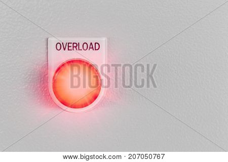 Overload Light Sign With Space For Text