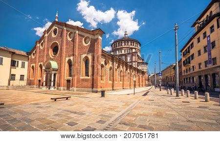 Church of Santa Maria delle Grazie in Milan, Italy. This church is famous for hosting Leonardo da Vinci masterpiece