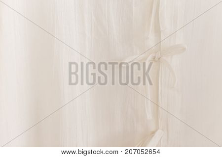 North Thai Style Traditional White Calico Clothes Close Up Shirt Tied Clasper Texture Pattern For Ba