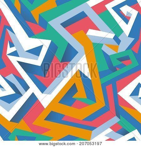 Isometric geometric seamless pattern (vector eps 10)