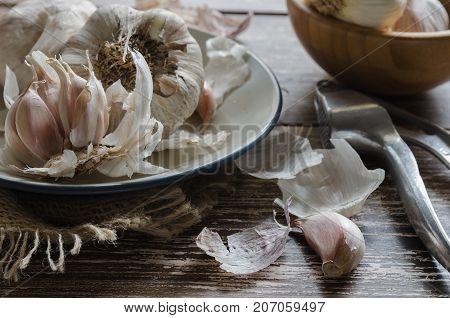 Garlic Cloves Background