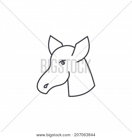 hoss vector line icon, sign, illustration on white background, editable strokes