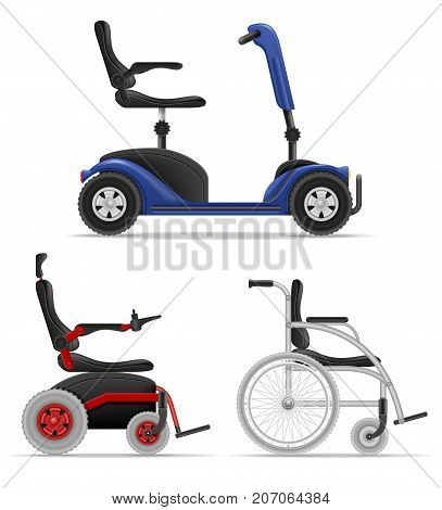 wheelchair for disabled people stock vector illustration isolated on white background