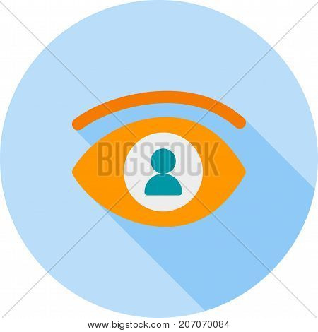 Impression, person, job icon vector image. Can also be used for soft skills. Suitable for mobile apps, web apps and print media.