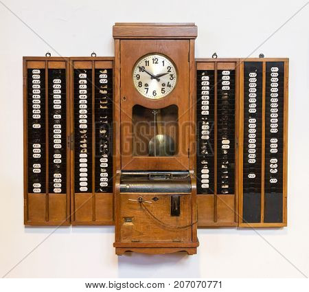 Time Clock On A White Background