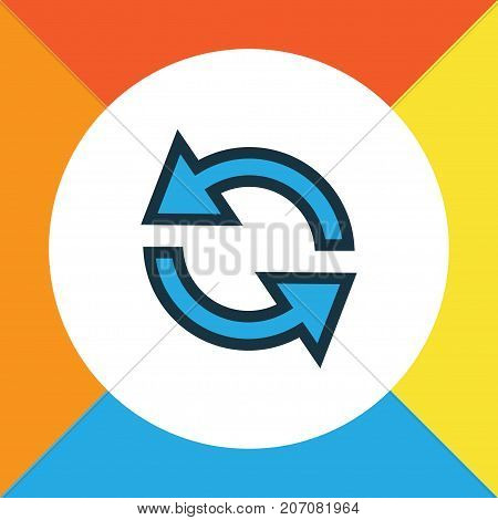 Premium Quality Isolated Synchronize Element In Trendy Style.  Sync Colorful Outline Symbol.