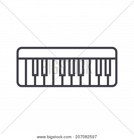 modern synthesizer  vector line icon, sign, illustration on white background, editable strokes
