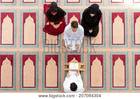 Muslim girl and the man marry by Muslim traditions.
