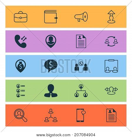 Hr Icons Set. Collection Of Hierarchy, Reverse, Manager And Other Elements