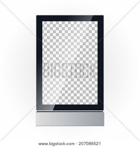 Vector Template Of A Advertising Board Display. Outdoor Advertising. Light Box.