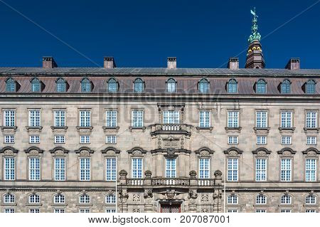 Christiansborg Palace is a palace a government building and the seat of the Danish Parliament with the Danish Prime Minister's Office and the Supreme Court of Denmark.