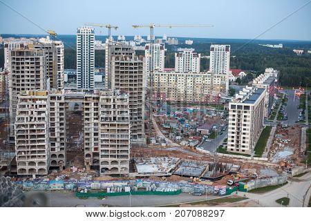 construction of a multi-storey buildings.  big city